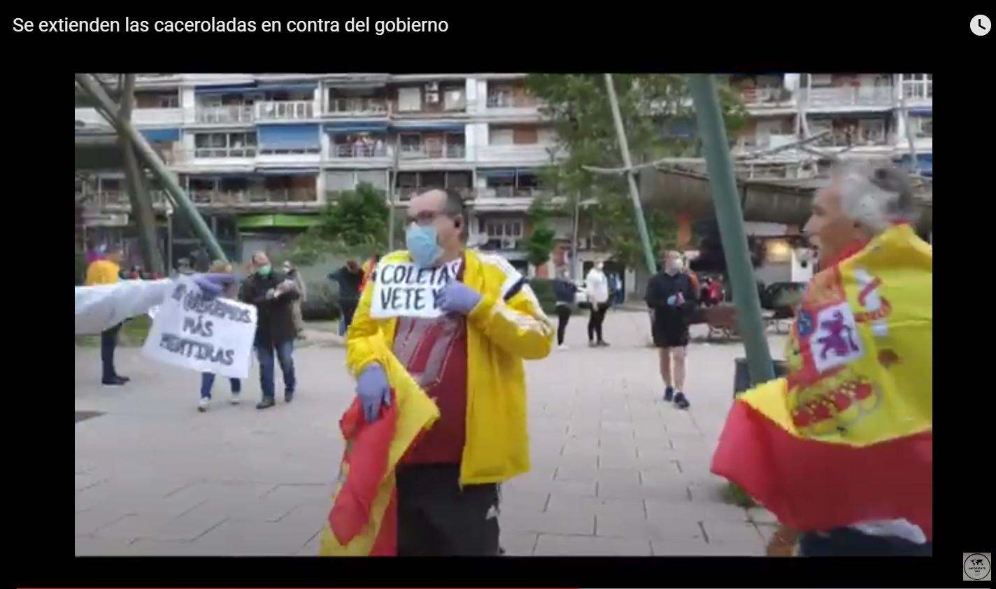 Protesta contra el gobierno en Alcorcón