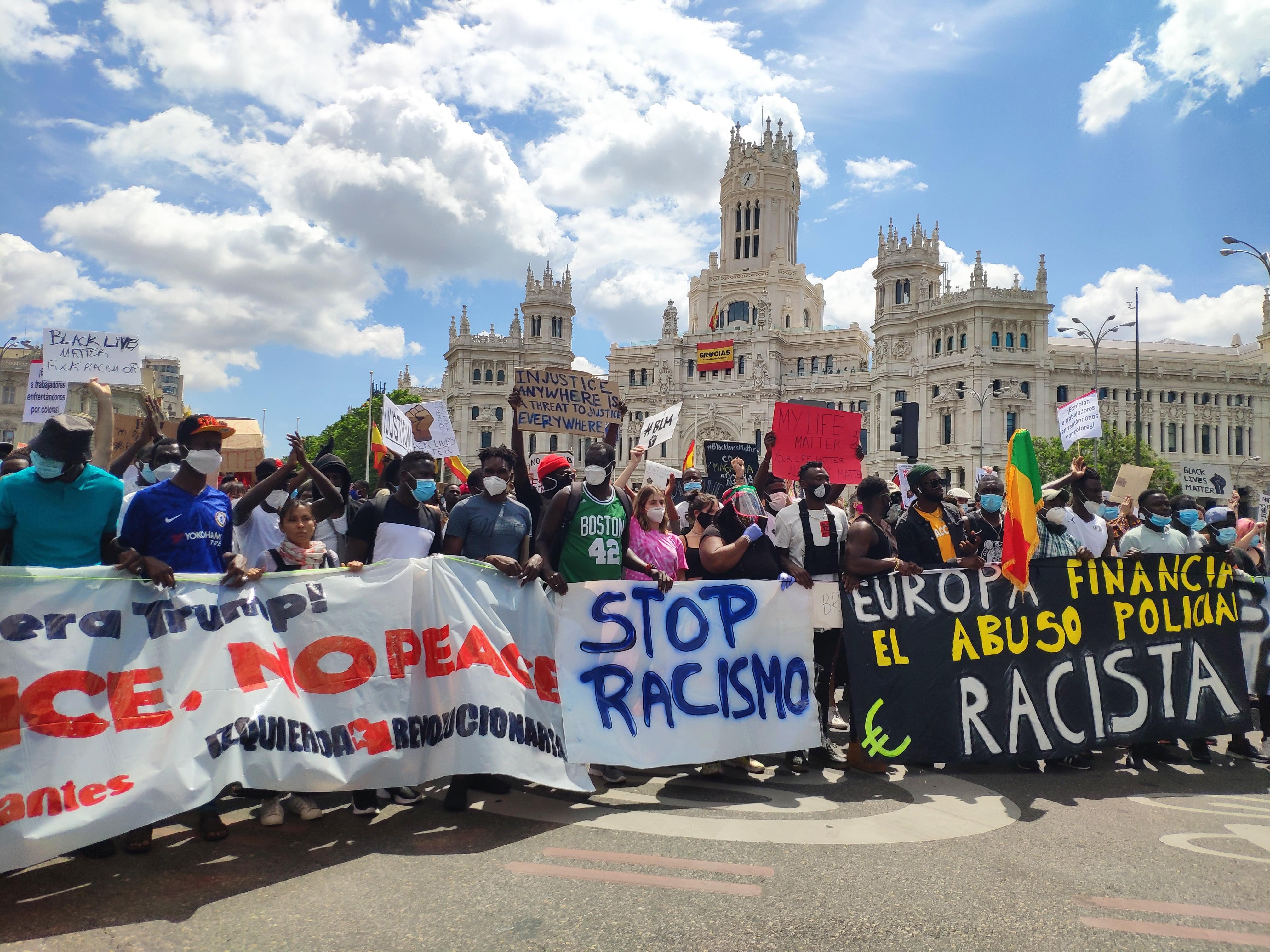 Protesta en Madrid contra el racismo