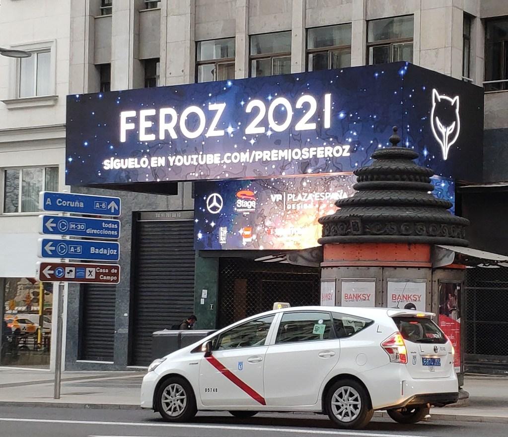 Vista del Teatro Coliseum de Madrid donde se ha celebrado la gala de los Premios Feroz 2021 // Elisa Manrique